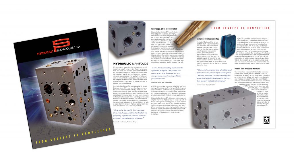 Brochure for Hydraulic Manifolds USA
